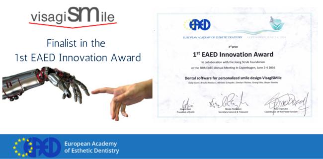EAED Innovation Award for visagiSMile